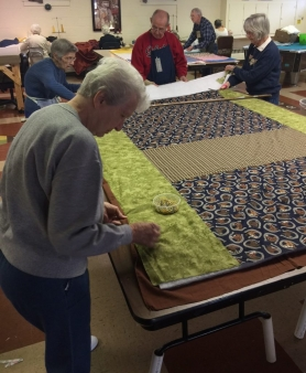 Blanket Ministry at Zion Lutheran Church - with the Samaritan Quilt Group - helps warm the world