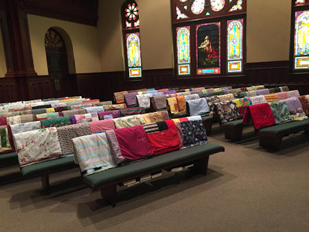 Blanket Sunday at Zion Lutheran Church in Glen Rock, PA