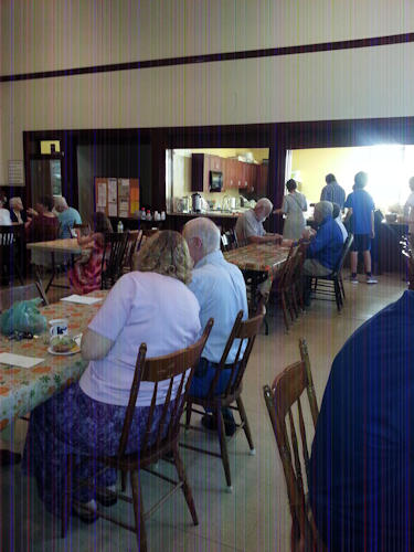 Zion Lutheran Church Social Time following Sunday Worship Service